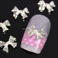 B303 50 шт./лот ногтей сплав дизайн искусство очарование белая бабочка прекрасный галстук кристалл алмаза блеск ногтей DIY дизайн украшения