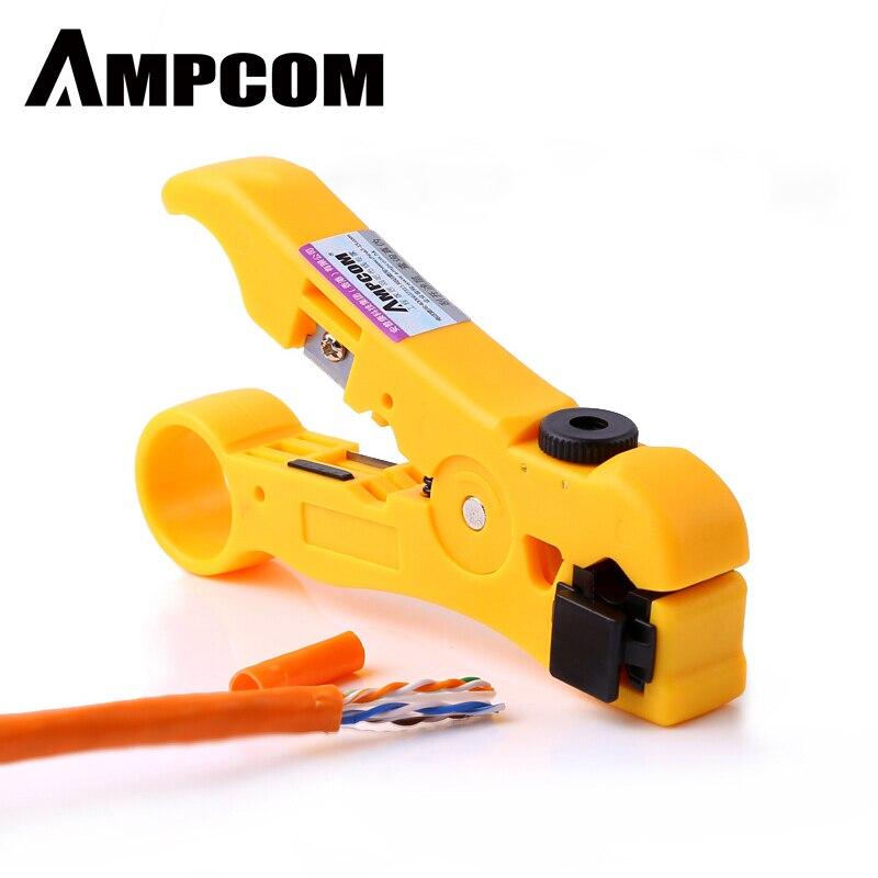 Инструмент для зачистки кабеля AMPCOM All-In-One инструмент для зачистки проводов инструмент для сжатия коаксиального кабеля, круглый кабель, реза...