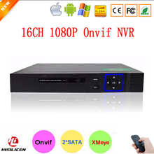 Hisiclion Chip Blue-Ray Case Two SATA Port HD Digital 16ch 16 Channel 1080P Surveillance Video Recorder Onvif NVR Free Shipping