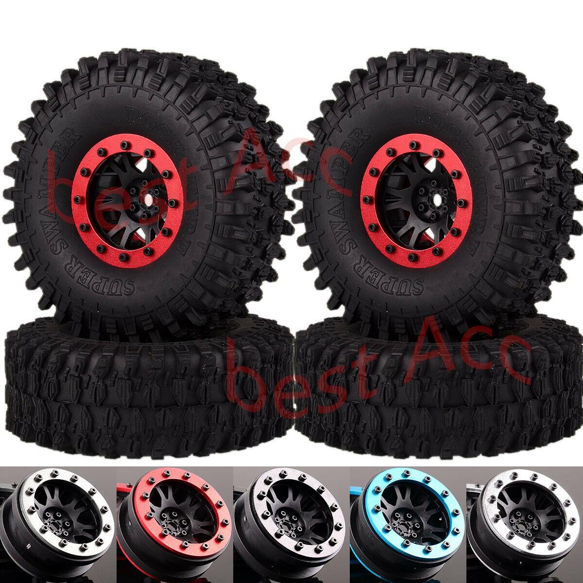 1068-7037 RC Car Beadlock Wheel Rim Tires 1.9 For 1:10 Crawler 90047 D110 TF2 TRX4 4P rc car 4wd1068-7037 RC Car Beadlock Wheel Rim Tires 1.9 For 1:10 Crawler 90047 D110 TF2 TRX4 4P rc car 4wd