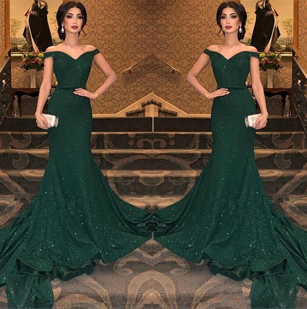 2c88e2c54 Cheap Vestidos de fiesta largos elegantes de gala 2019 Hot Sexy Sequined Mermaid  Long Prom Dresses Dark