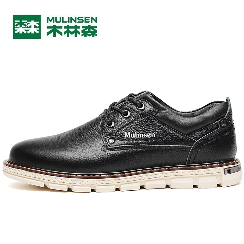 Mulinsen Brand New autumn Men Sports Hiking Genuine Leather Shoes Sport Shoes Wear Non-slip Outdoor Sneaker 270116 mulinsen latest lifestyle 2017 autumn winter men