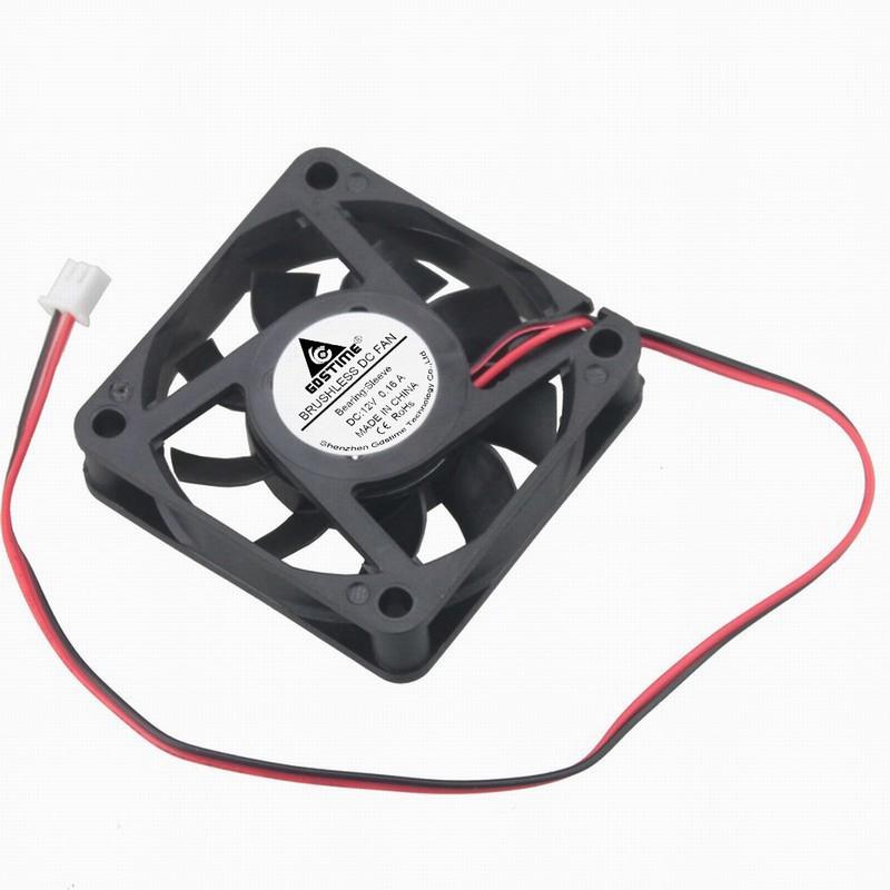 100pcs Gdstime 12V 60x60x15mm High RPM 0 16A Mini DC Cooling Fan 60mm x 15mm PC