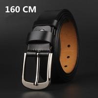 Fashion 160 CM Men Belt GENUINE Leather Waistband Vintage Classic Pin Buckle Design Belts For Men