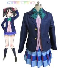 Envío Libre Love Live! Ídolo Proyecto escuela Yazawa Niko Otonokizaka Academia de Chicas de Uniforme Escolar Anime Trajes de Cosplay