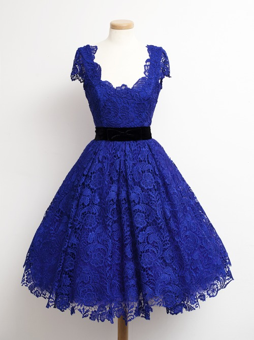 Popular Royal Blue Lace Dresses for Women Cocktail-Buy Cheap Royal ...