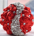 Multi Color Crystal Wedding Bouquets Red Bridal Bouquet Shinny Rhinestone Flower Bouquet Buque de noiva artificial 2016 Flowers