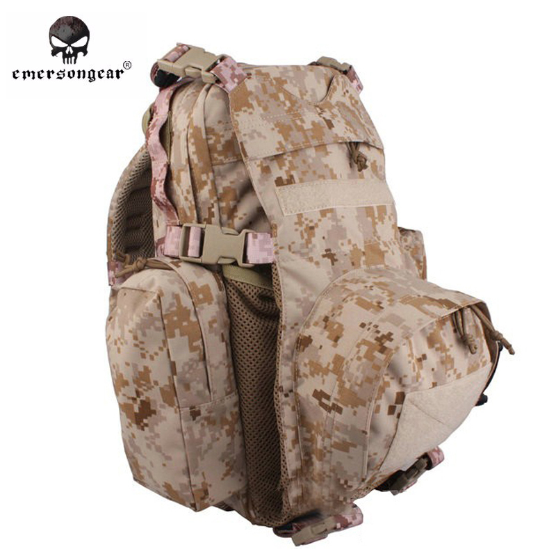 Emersongear Yote Rucksack Hydration Tactical Bag 1000D Cordura Molle Military Tactical Backpack Shoulder Hunting Bag AOR1 emerson yote rucksack hydration tactical bag 1000d cordura molle military tactical backpack shoulder hunting bag highlander