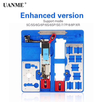 UANME 12 in 1 Phone Repair Motherboard Fixture For iPhone 5C 5S SE 6 6P 6S 6SP 7P 8 8P XR CPU Chip Repair Tools PCB Holder jig