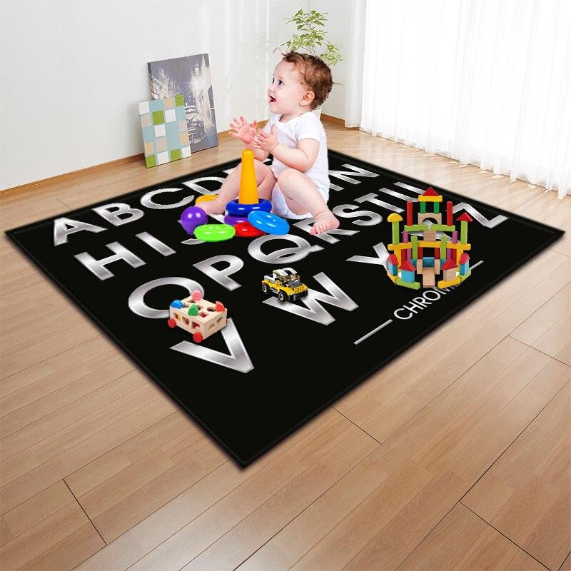 Mignon lettre 3D imprimé bébé activité jeu tapis tapis chevet canapé zone tapis couverture Floormat pour salon chambre décor à la maison