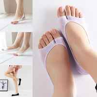 6 Colors Fashion Summer New Open Toe Socks 1 Pair Women Antiskid Invisible Liner Cotton Blend Low Cut Socks For High Heel