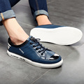 spring summer casual leather round toe Bullock new men leather platform shoes
