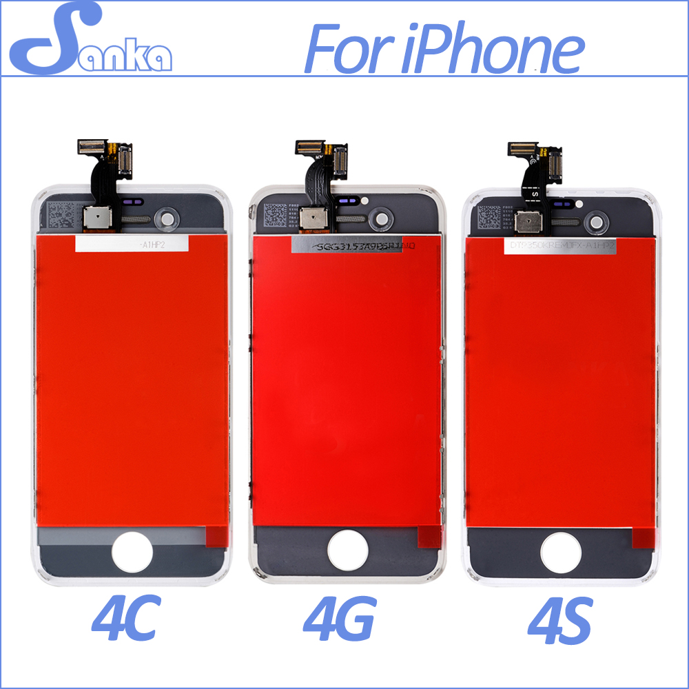 SANKA Replacement LCD For iPhone 4 4g 4S A1332 LCD Display Digitizer Touch Screen Assembly Ecran Pantalla LCD Mobile Phone Parts