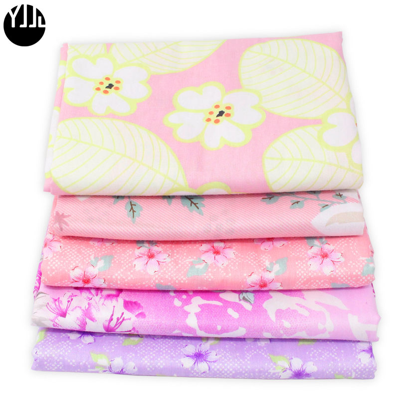 New 50cm*160cm 100% cotton Colourful flower twill fabric baby crib bedding pillow dress handwork patchwork cloth DIY quilt D11