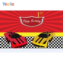 Yeele Cartoon Cars Backdrops Children Boys Birthday Party Photography Background Custom Photographic Backdrop For Photo Studio tye die muslin custom photo background photographic studio background backdrop children theme photography backdrops f163