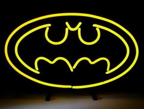 Custom Batman Comic Hero Glass Neon Light Sign Beer Bar