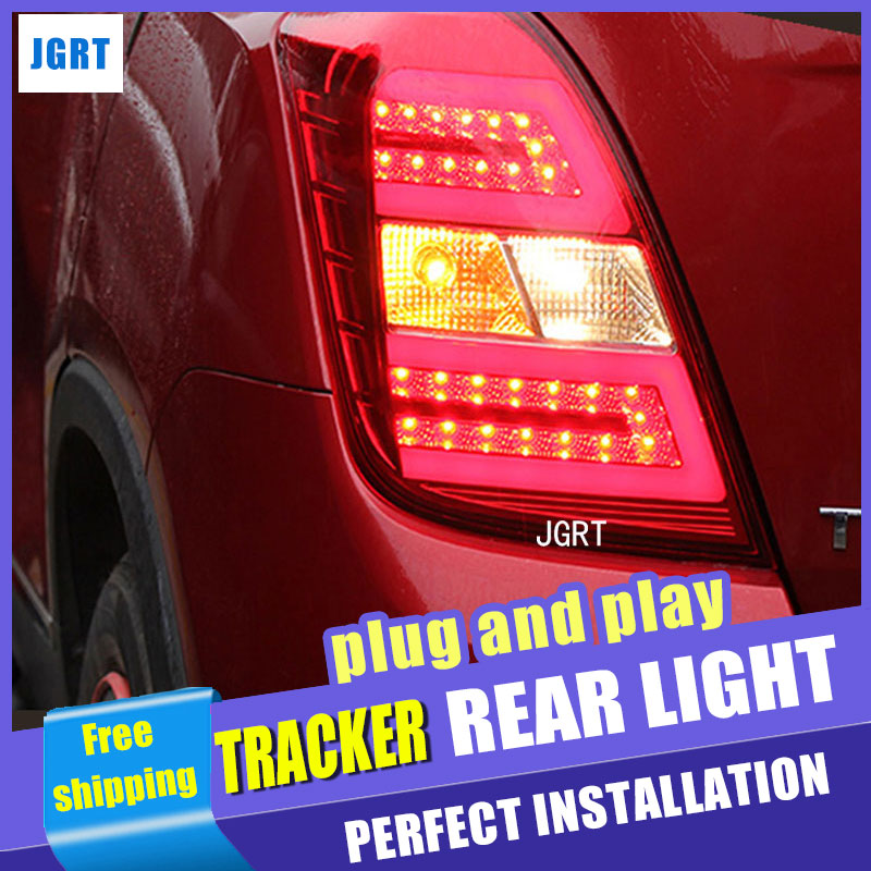 Car Styling for Chevrolet Tracker Taillight assembly 2014 New Trax LED Tail Light GLK Rear Lamp DRL+Brake with hid kit 2pcs. автоинструменты new design autocom cdp 2014 2 3in1 led ds150