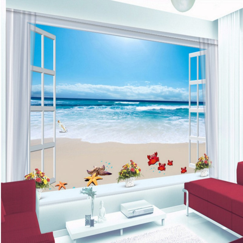 bathroom sea fantasy living coffee template sky 3d beach background wallpapers mural