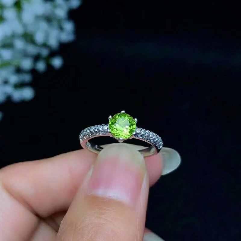 SHILOVEM 925 เงินสเตอร์ลิง PERIDOT แหวน fine เครื่องประดับงานแต่งงานของผู้หญิงผู้หญิงโรงงานของขวัญใหม่ขายส่ง bj0606029agg