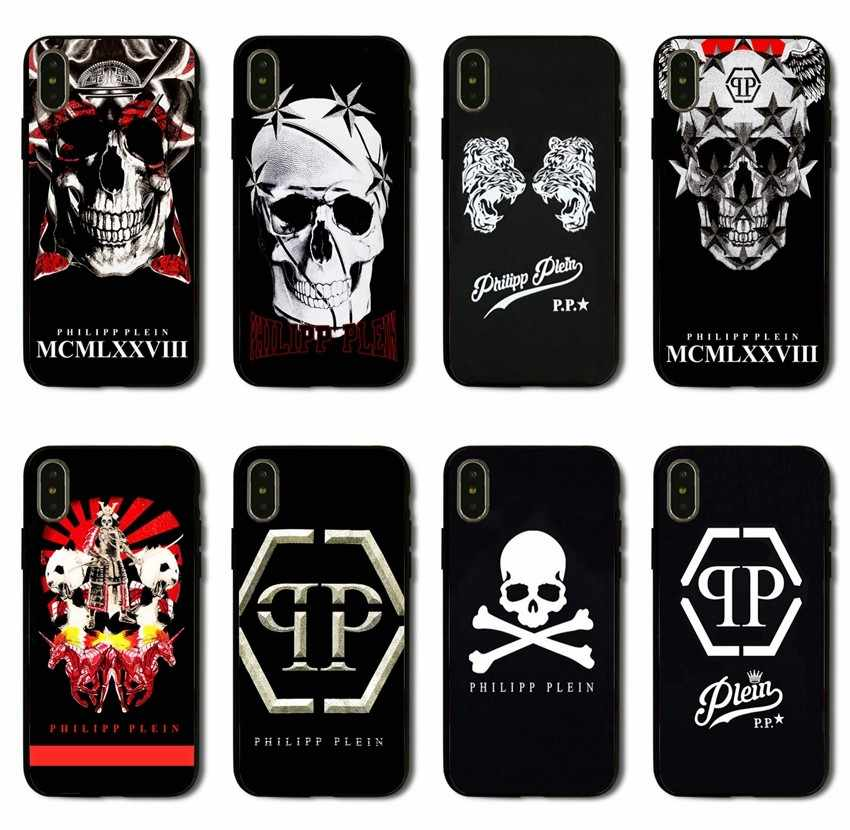 cf0eb046c9c Newest fashion PHILIPP PLEIN Matte soft Silicone TPU phone case for iPhone  8 7 6 6S