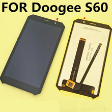 FOR Doogee S60 LCD Display+Touch Screen LCD Digitizer Glass Panel Replacement For Doogee S60 TOUCH SCREEN цена 2017