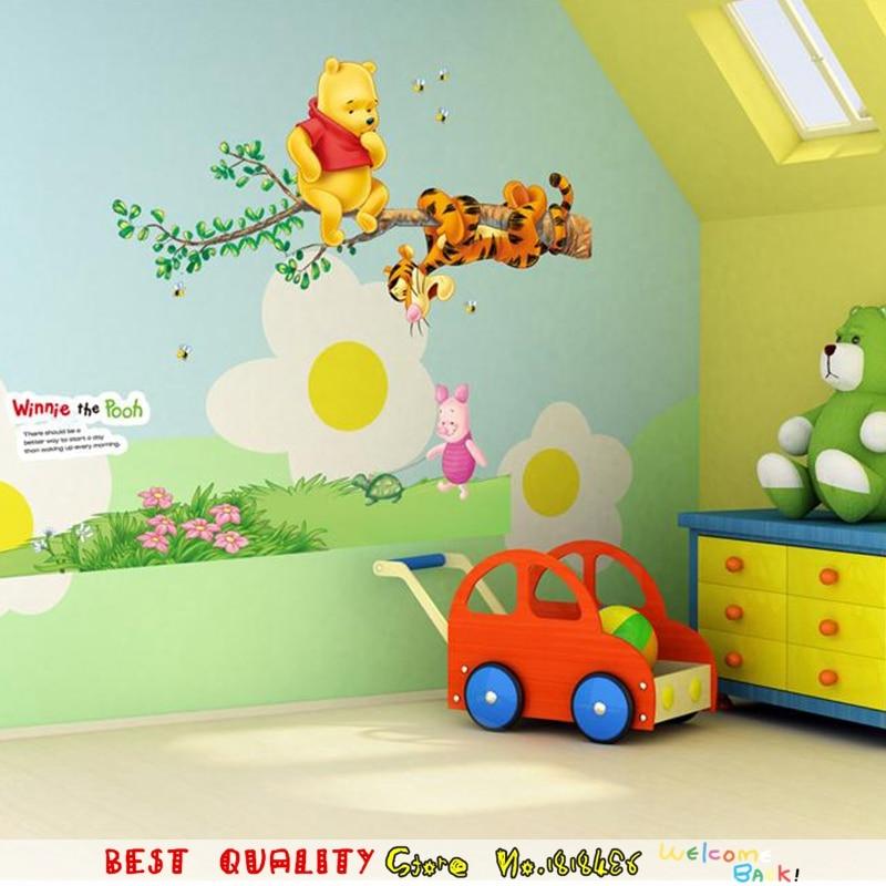 Popular Cartoon Winnie The Pooh Home Decor Wall Stickers