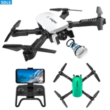Foldable Mini RC Drones With Camera HD Dual Camera Drone Hand Control Optical Flow 4K Drone WIFI FPV Drone RC Helicopters