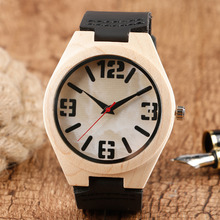 Men Wooden Watch Pure Bamboo Modern Wristwatch Analog Sports
