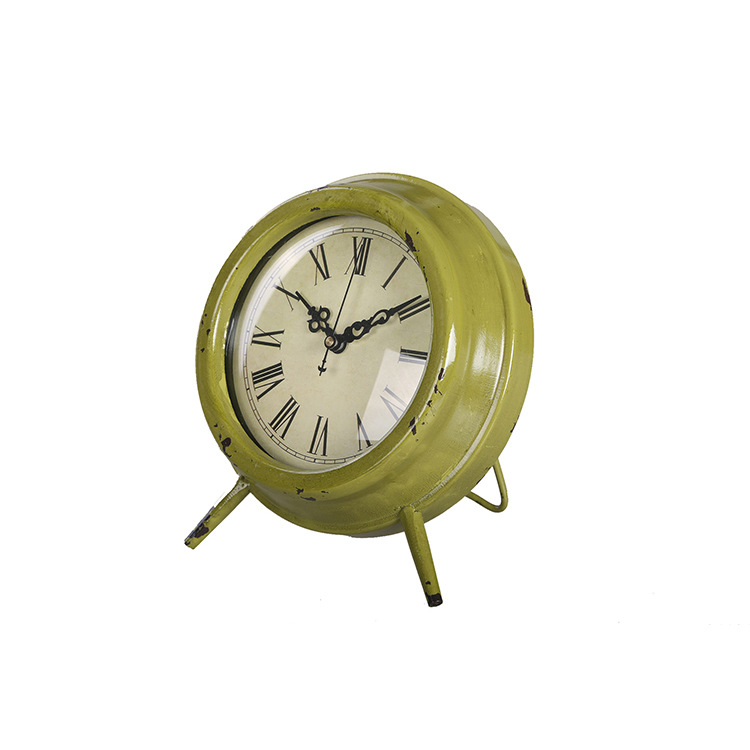 buy garden decor small circular clock iron crafts vintage table clock decorative table clocks 16517cm from reliable craft papaer