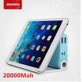 Новый 100% Оригинал 20000 мАч Мобильный Портативный Банк силы Dual USB Внешний Аккумулятор Зарядное Устройство с ЖК-Фонарик stander функции