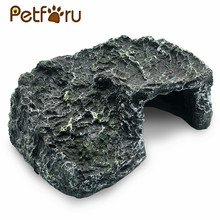 Petforu Aquarium Landscaping Resin Turtle Reptile Climbing Basking Ramp Platform Hide House Habitat Decor(China)