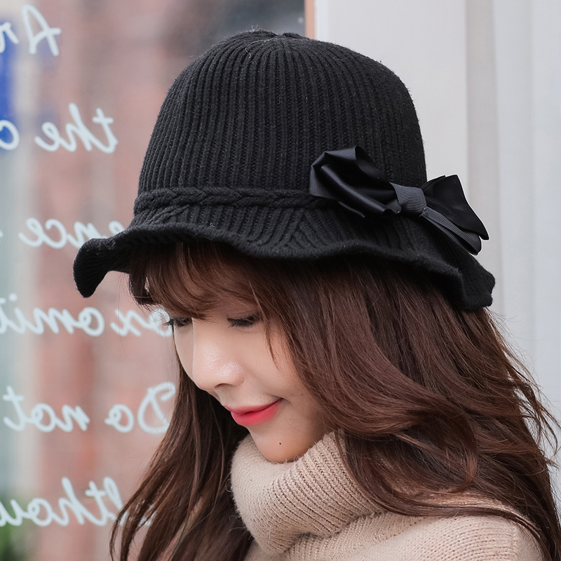 Casual Womens Wild Hat Winter Vacation Folding Bow Tie Fisherman hat For Girls Beautiful Top Quality Unique Design