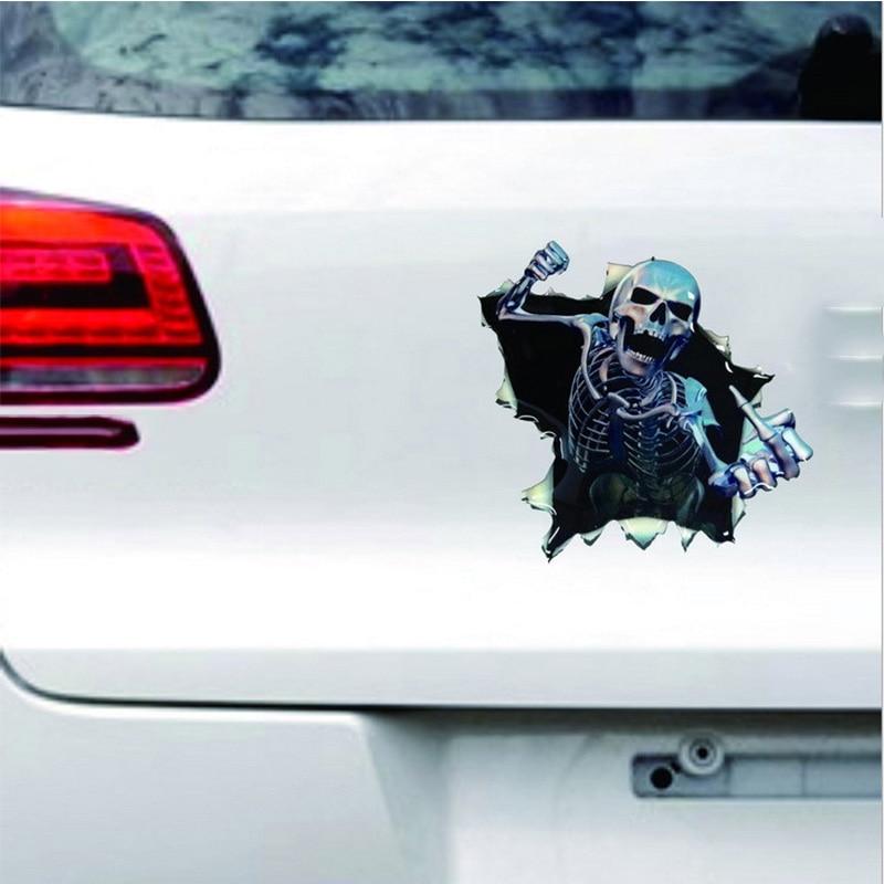 1vnt SEEYULE Naujas atvykimas Crazy kaukolė juokingi automobilio - Automobilių išoriniai aksesuarai - Nuotrauka 2