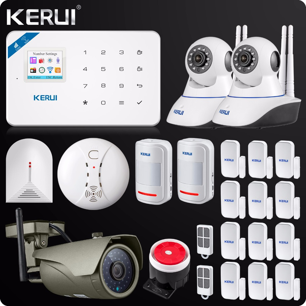 2018 W18 WIFI GSM SMS Home Burglar LCD GSM SMS Touch Screen Alarm Panel Home Security Alarm System IP Wifi Camera yobang security touch screen 3g gsm alarm system wifi sms smart home burglar alarm with ip camera for baby pet elder monitor