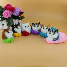 Cute Plush Cat Soft Animal Toys Doll Lifelike Simulation Kids Girls Xmas Gift Decoration Crafts Figurines & Miniatures(China)
