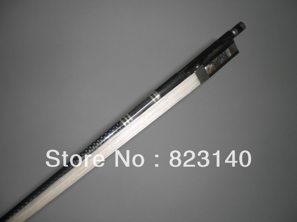 2 PCs Strong Carbon Fiber Bow with Ebony Frog 2001# all 4/4 size 3 pcs strong balanced carbon fiber violin bow 4 4 different ebony frog