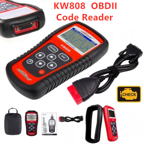 Original KONNWEI KW808 OBD2 Auto Engine Scan Tool Automotive Diagnostic Scanner Tool Engine Fualt Code Reader Supports CAN J1850(China)
