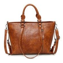 SGARR Большая вместительная женская сумка-тоут из искусственной кожи высокого качества винтажная сумка на плечо дизайнерская повседневная женская сумка-мессенджер