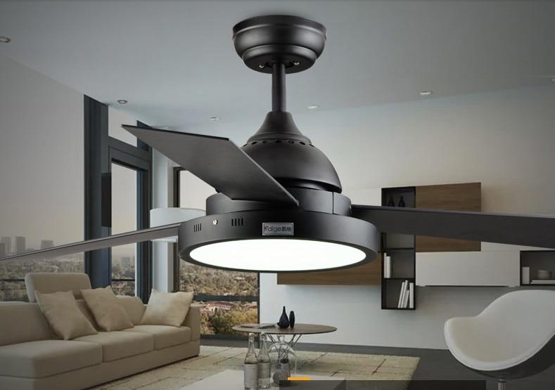 220V 48inch Black /white Electric Ceiling Fan Light 24W