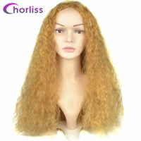 Chorliss Long Women Wigs Afro Kinky Curly Wigs For Black Women Blonde Synthetic Wigs African Hairstyle