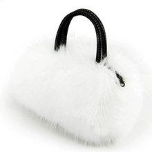 Rabbit Fur Women Messenger Bags Women Leather Handbag Luxury Handbags Women Bags Designer Bags Handbags Women