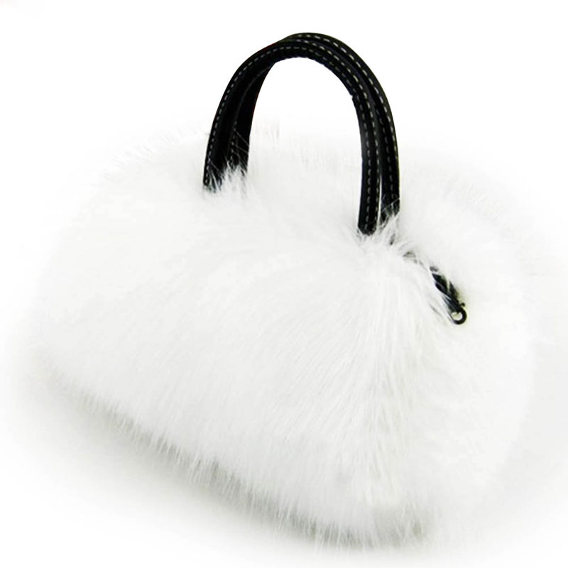 Rabbit Fur font b Women b font Messenger font b Bags b font font b Women