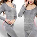 for Women Winter Thick Warm Underwear Thermal Underwear Suit Long Johns Female Knitted Clothing ht