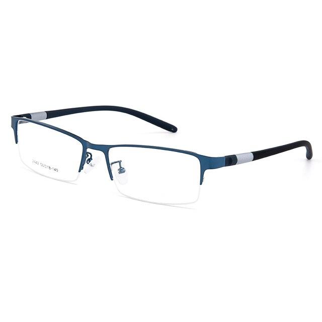 Gmei Optical Men Titanium Alloy Eyeglasses Frame for Men Eyewear Flexible Temples Legs IP Electroplating Alloy Spectacles Y2442 4