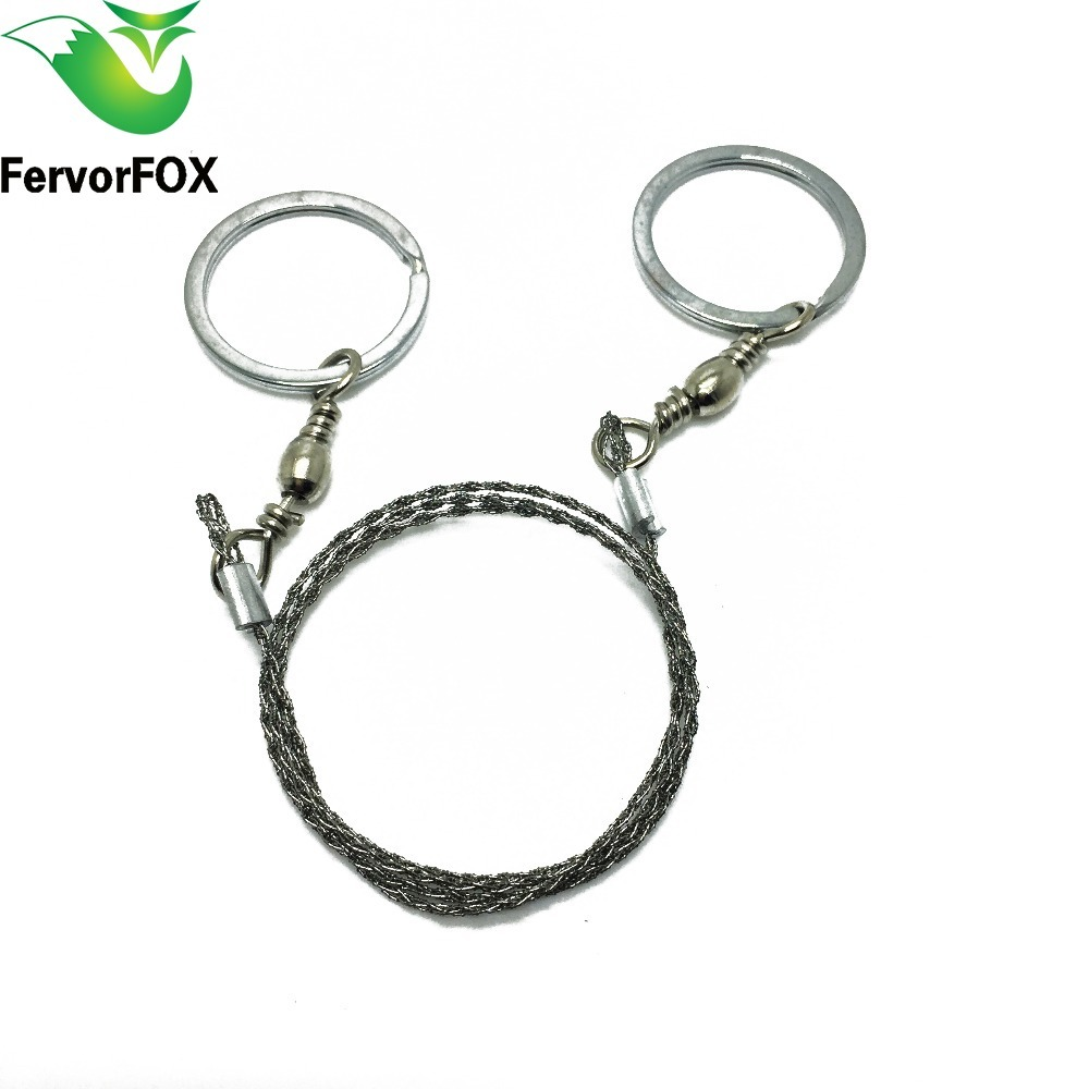 1Pcs Emergency Survival Gear Outdoor Camping Steel Wire Saw Ring Scroll Travel Camping Hiking Hunting Climbing Survival Tool