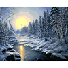 Frameless DIY Painting By Numbers Kits Coloring By Numbers Oil Painting On Canvas Landscape Home Decor