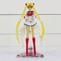 Sailor Moon Pretty Guardian Super Sailor Moon Japanese Anime PVC Action Figure Toy