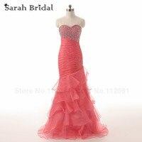 Luxury Charming Prom Dresses Mermaid Long Elegant Tiered Chiffon Evening Gowns Long Vestidos De Festa In