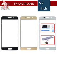 For Samsung Galaxy A5 2016 A510 A510M SM-A510F A510F Front Outer Glass Lens Touch Screen Panel Replacement samsung galaxy a5 2016 sm a510f black
