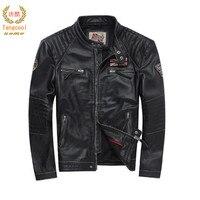 2018 бренд мужской кожаный лет кожаная куртка кожа Мода ремонт мотоцикл куртка размер XS 5XL